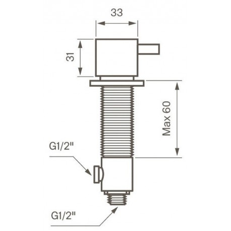 Tapwell BI284 pesukoneventtiili, kupari